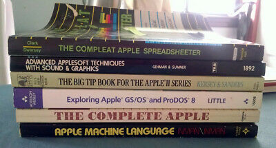 Apple ii Vintage Some Rare Books Manuals Lot of 6