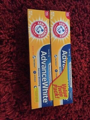 Advance White Toothpaste.  Arm & Hammer. Baking Soda and Peroxide Twin Pack