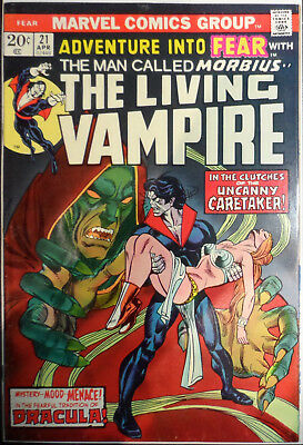 Adventure Into Fear #21 Cents Issue Vg/fn (Early Appearance Of Morbius)