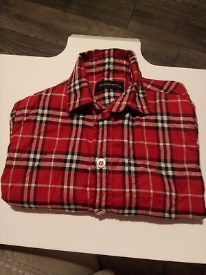 BURBERRY baby / toddler kids check long sleeve shirt 18 months.