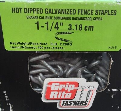 """Fence Staple 1-1/4"""" Hdg 5# by GRIP RITE FREE SHIP"""