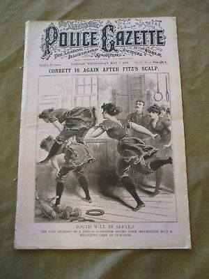 London  National Police Gazette May 5, 1897 Corbett Again After Fitzsimmons