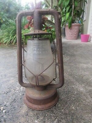 Vintage DIETZ, New York, USA  Kerosene Lantern With Glass Globe