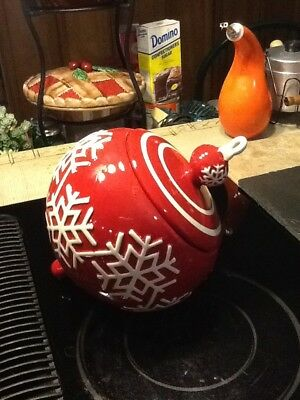 Vintage Beautiful Christmas ornament  Cookie Jar