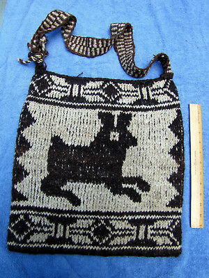 MORRAL (MAYAN MAN'S UTILITY BAG) from NAHUALÁ, GUATEMALA - unusually large