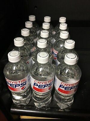 CRYSTAL PEPSI Lot Of (15) 20oz Bottles 2017 Limited Release best by Oct.30,2017