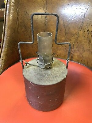Antique R&R Railroad Adams and Westlake kerosene oil Lantern Tank Burner