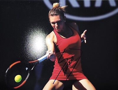 Autograph Simona Halep, 20* 27 cm (8*10) (Signed in person)