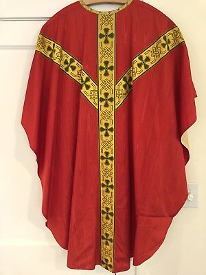 Nice Red Chasuble For Priest