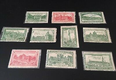 1904 st louis worlds fair Stamps