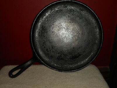 """Vintage Wagner Ware Sidney 0 1109 A Cast Iron 10"""" Flat Iron Griddle Pan Skillet"""