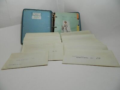 50 envelopes with old McCalls doll Patterns and a Catalog Unique Lot 1960s-70s