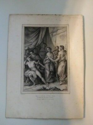 Original Engraving (1750) Designed by Deluise from painting by F. Nenei (Napoli)