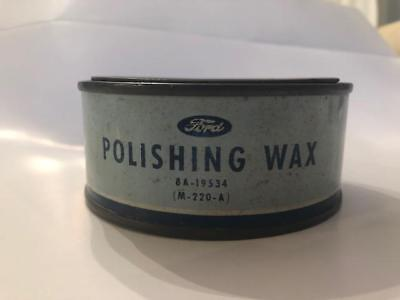 old antique FORD  polishing wax can