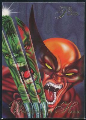 1994 Flair Marvel Annual Trading Card #34 Wolverine vs Hulk