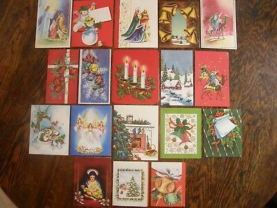 18 Vintage & Mid Century Christmas Cards 1950s Unused UNSIGNED w/ Envs UNIQUE!