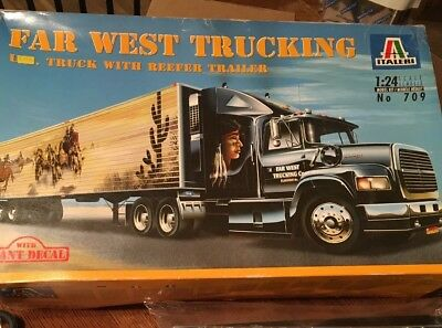 ITALERI FAR WEST TRUCKING WITH REEFER TRAILER KIT# 709~~Complete Sealed Bags