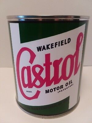 Vintage Castrol Motor Oil Can 1 qt. -  ( Reproduction Tin Collectible )