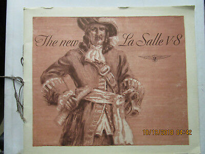 1932 Lasalle Very Large Color Sales Catalog--Very Rare