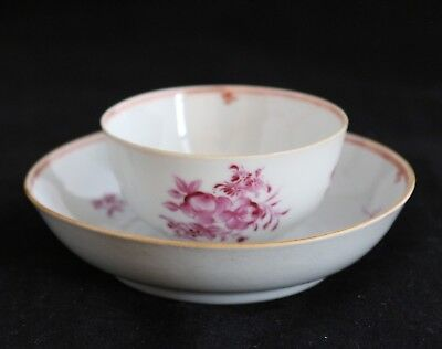Antique 18th c Qing Chinese Porcelain China Famille Rose TEA BOWL & SAUCER