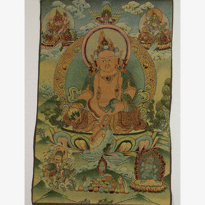 Tibet Collectable Silk Hand Painted Buddhism Portrait  Thangka RK006.a