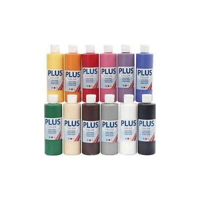 Plus Color Craft Paint, classic, 12x250ml [HOB-39494]