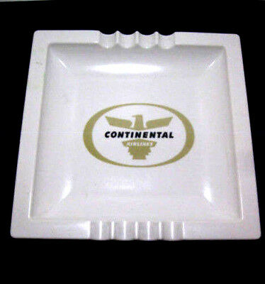 Vintage Continental Airlines Collectible Melmac Ashtray
