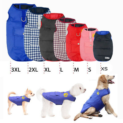 Pet Vest Jacket Warm Waterproof Pet Dog Clothes Small/Large Winter Padded Coat
