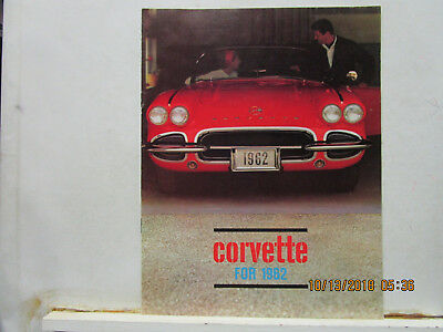 1962 Corvette Color Catalog  --Original, Nice Piece