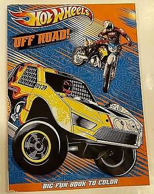 "New Hot Wheels Jumbo Coloring And Activity Book ""Off Road"""