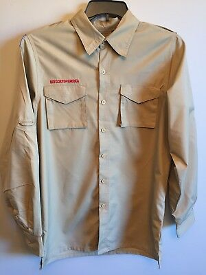 Bsa Boy Scouts Of America Long Sleeve Adult Small Button Down Shirt