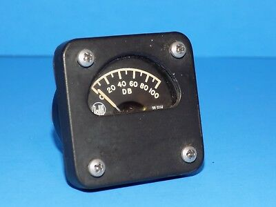 *** VERY CLEAN COLLINS R-390, R-392 or R-390A  RECEIVER  CARRIER LEVEL DB METER