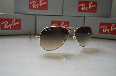 6483122d7f5 ... discount ray ban aviator rb3025 001 51 gradient gold frame light brown  gradient lenses e1685 323d5