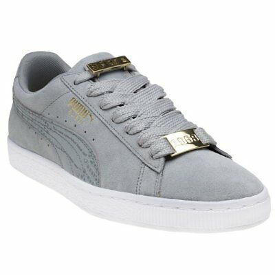 de8b7121dc0 New Mens Puma Grey Suede Classic Bboy Fabulous Trainers Retro Lace Up