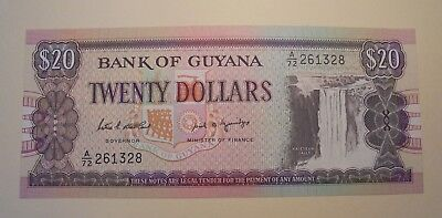 Uncirculated 20 Dollar Note From Guyana