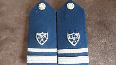 Vintage Pair U S Coast Guard Auxiliary Shoulder Boards