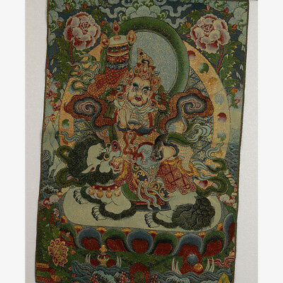 Tibet Collectable Silk Hand Painted Buddhism Portrait  Thangka RK008.a
