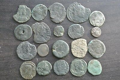 Lot Of 20 Low Quality Partially Cleaned/uncleaned Ancient Roman Coins