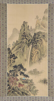 "CHINESE HANGING SCROLL ART Painting ""Sansui Landscape""  #E4274"