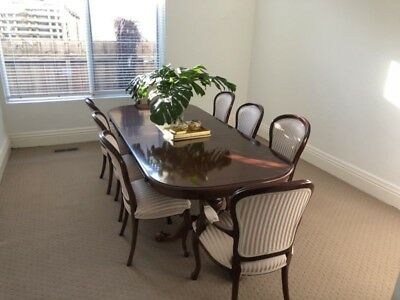 Mahogany Dining Table and Chairs - WM Woodcarving Melbourne