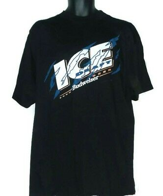 9e8ed3252ea7e 90S Bud Ice Draft Budweiser Beer T-Shirt XL Alcohol Ad Collectible Promo New