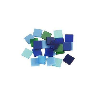 Mini Mosaic, size 10x10 mm, thickness 2 mm, blue/green harmony, 25g [HOB-51930]