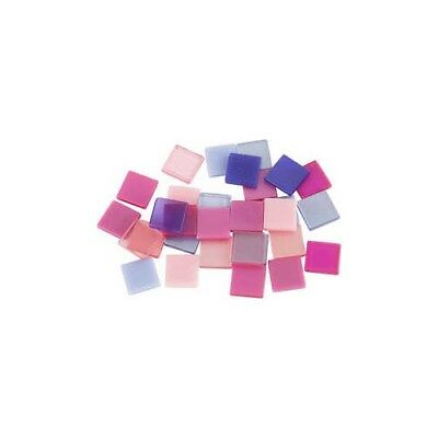 Mini Mosaic, size 10x10 mm, thickness 2 mm, purple/pink harmony, 25g [HOB-51927]