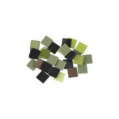 Mini Mosaic, size 10x10 mm, thickness 2 mm, green harmony, 25g [HOB-51925]