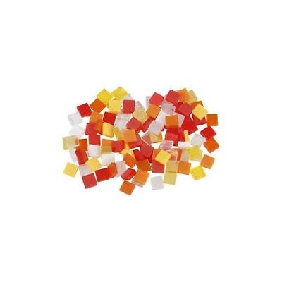 Mini Mosaic, size 5x5 mm, thickness 2 mm, red/orange harmony, 25g [HOB-51924]