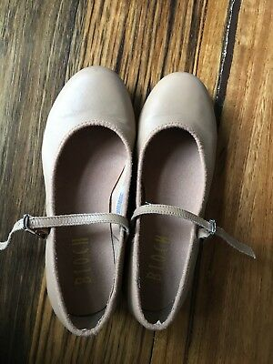 Girls Bloch Tan Tap Shoes Size 4