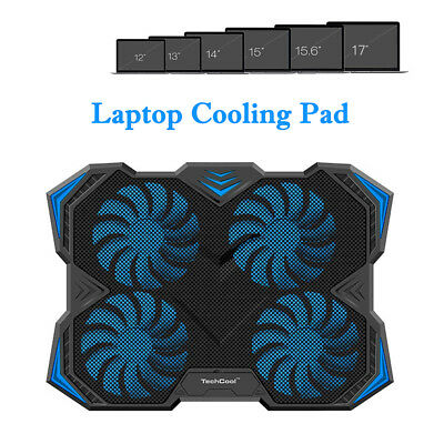 Lenovo ASUS 11/13/14/15/17 In Laptop Cooler Stand LED Cooling Pad USB Powered