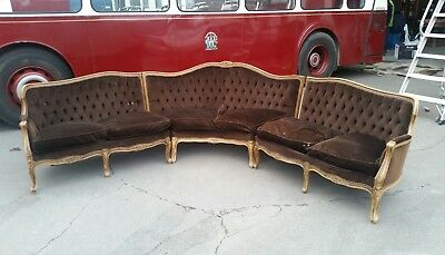 Louis Style Three Piece Corner Lounge
