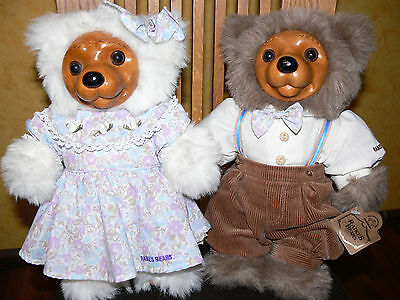 Robert Raikes Bears Alec & Allison Picnic Stoff Holz Teddy Bär Bären Antik limit