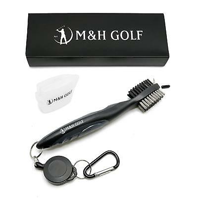 M&H GOLF Premium Golf Club Steel Brush and Groove Cleaner – Golf Bag Accessories